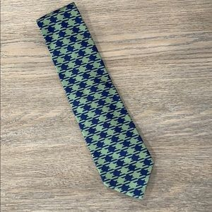 Altea Milano green and blue silk tie